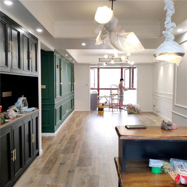 北歐風新家硬裝只花16萬 墨綠色壁柜低調奢華