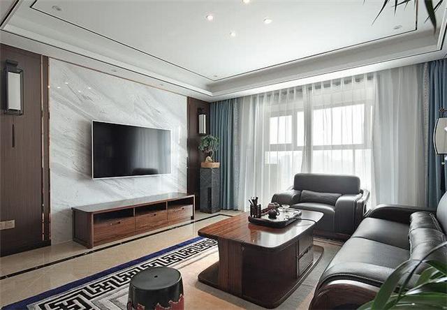 155平新中式风格三居室设计 漂亮大气韵味十足