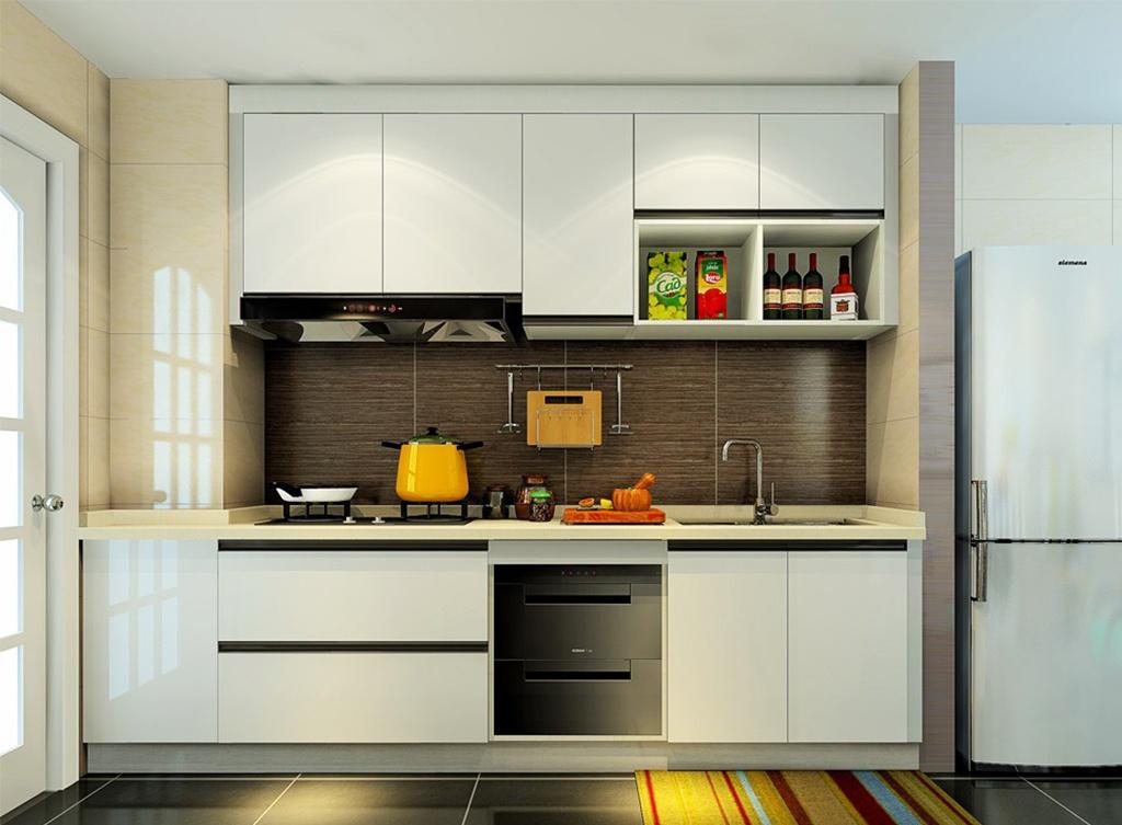 厨房小怎么设计?一字型布局最适合不过了