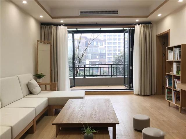 135平日式风格两居室 装修花费19万元物超所值