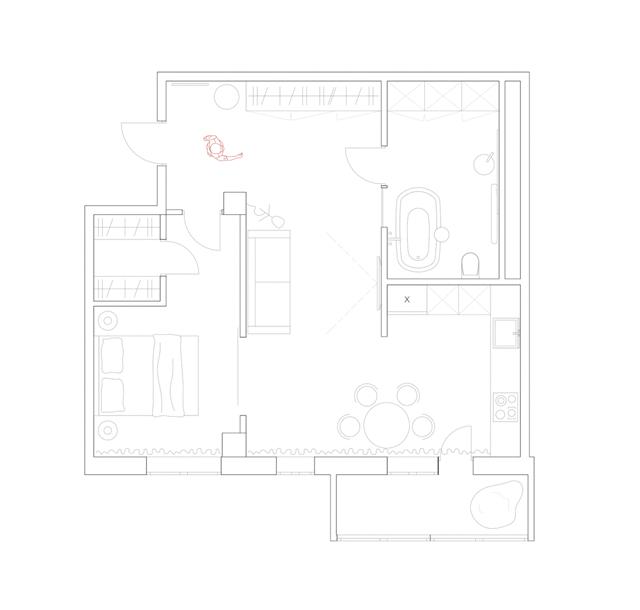 65平文艺范小户型设计案例 设计师概念图很有格调