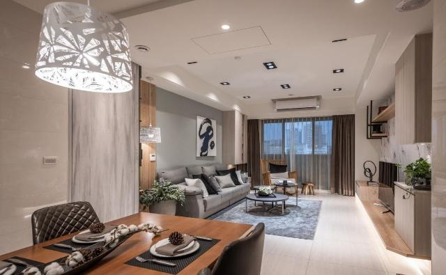 120平米4口之家家居裝修設計 營造舒適放松的混搭風格