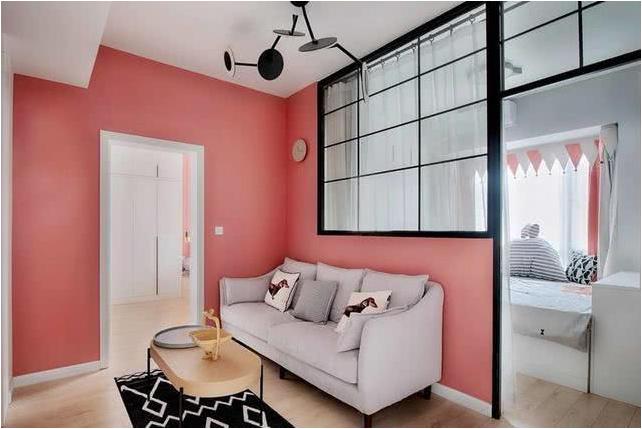 40平单身公寓装修日记 红色乳胶漆墙面很亮眼