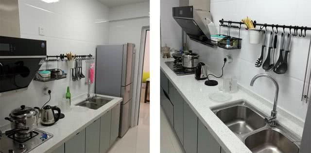 60平小户型房屋改造 墙面和柜子发挥收纳作用