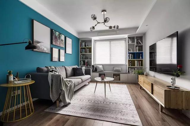 100平米北欧风的小三房 好精巧的配色!
