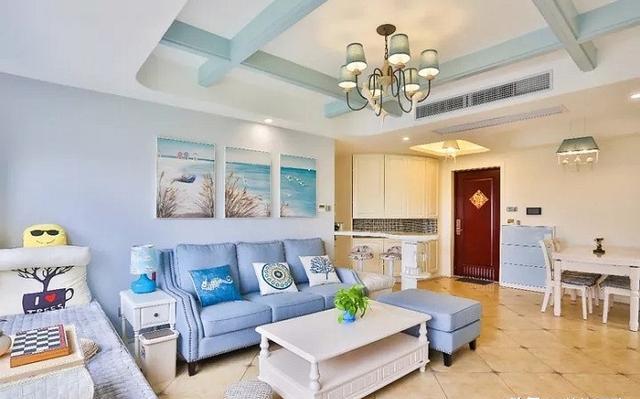 110㎡地中海風格裝修設計 客廳裝修得太漂亮了親戚進門就夸