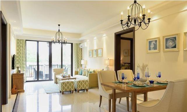 美式典雅的新房装修设计 营造出全屋简约清新的家居空间
