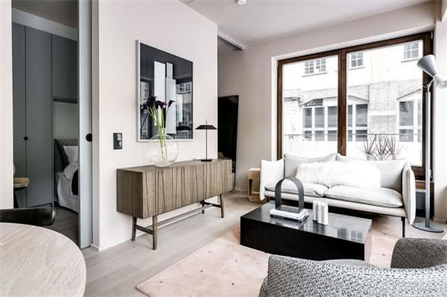 斯德哥尔摩北欧风格小公寓 粉灰配色太高级
