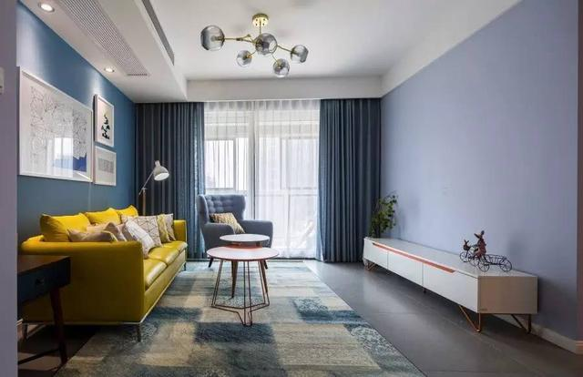 10w装修106㎡简约两室 色彩把握得相当好!