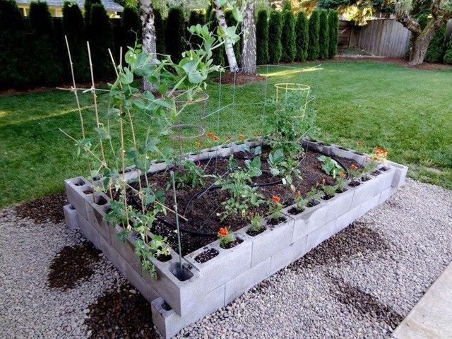 空心砖怎么用 发挥创意来造园堆积木