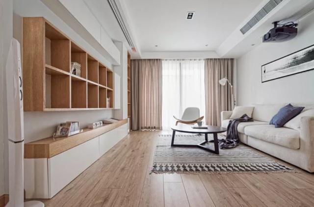 极简风格的客厅装修 连电视背景墙都省略了