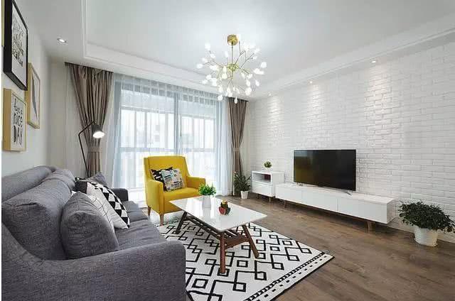 110平北欧风格新房 简洁温馨实用还有几分文艺气息