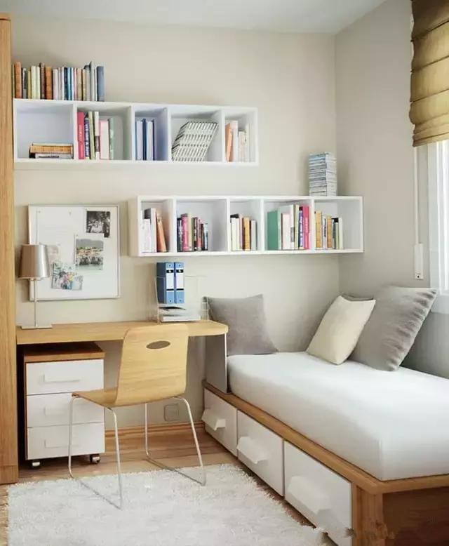 想要设计一个安静的角落书房 小户型得这样来!
