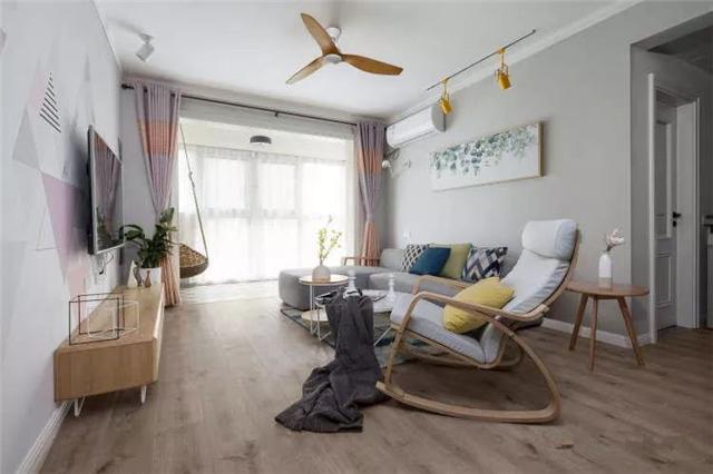 68平北欧风情小两居婚房 简约装修实用性很强