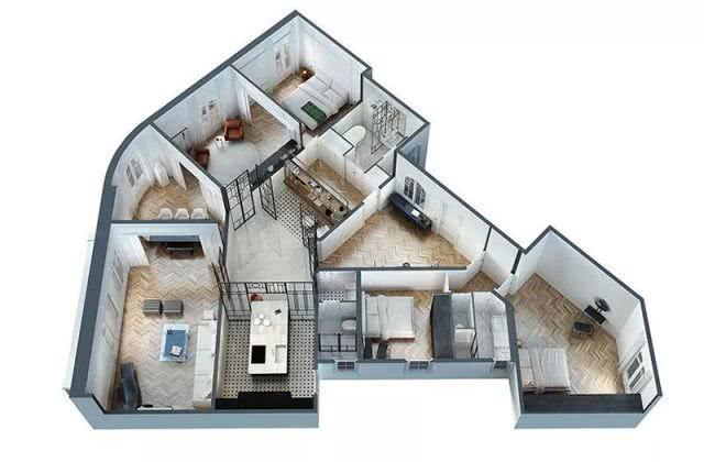 巴塞罗那现代风格精致住宅 只用白黑两个经典色调