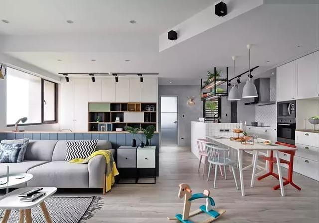103m²北欧风新房装修 打造温馨幸福的四口之家