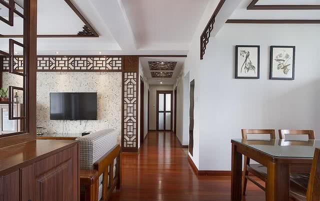 新中式风格婚房不老气 硬装效果超时尚