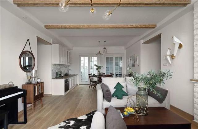 140平北欧风格文艺四居室 看起来简洁又质朴