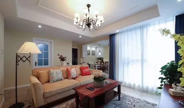 房子好不好软装很重要 90平美式风格软装搭配很漂亮