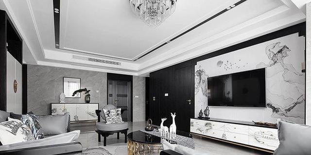 100㎡现代黑白灰装修 冷色效果才是真正超高级!