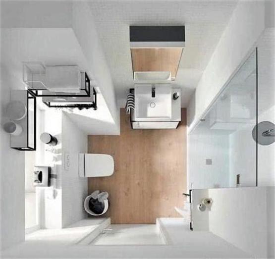 4平米小卫生间怎么装修 这样做淋浴房和浴缸都能安排上