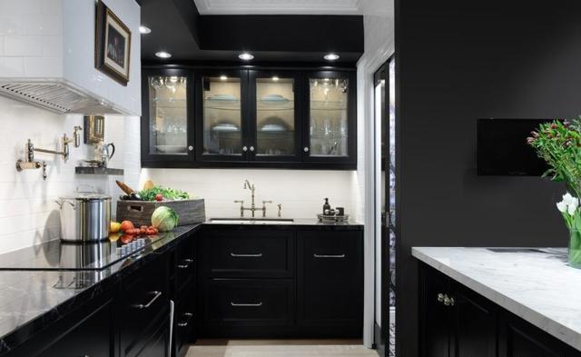 15款厨房黑色橱柜 相信你会喜欢的