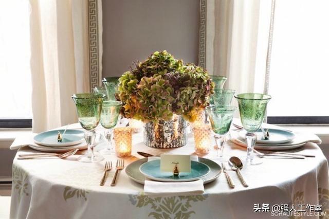 适合任何场合的家庭餐桌布置 融入创意只为更好宴客