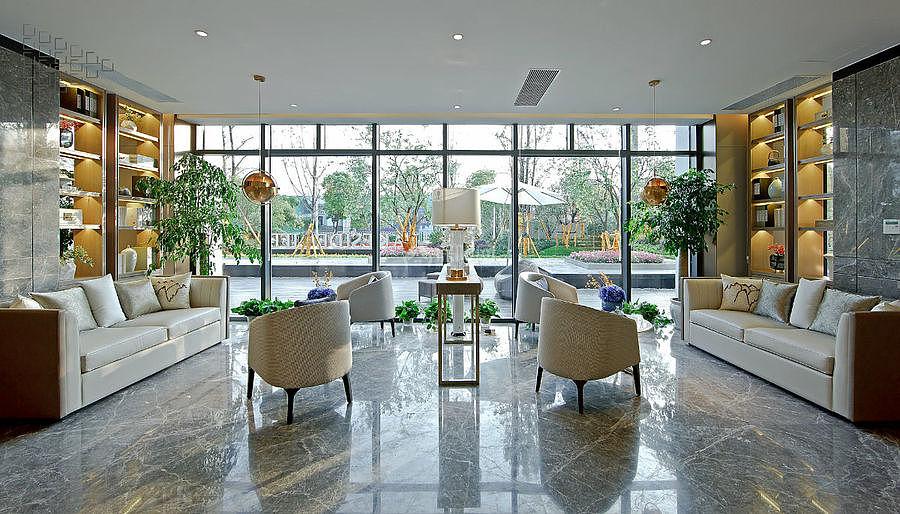 招商樾望售楼处之休闲空间设计效果图