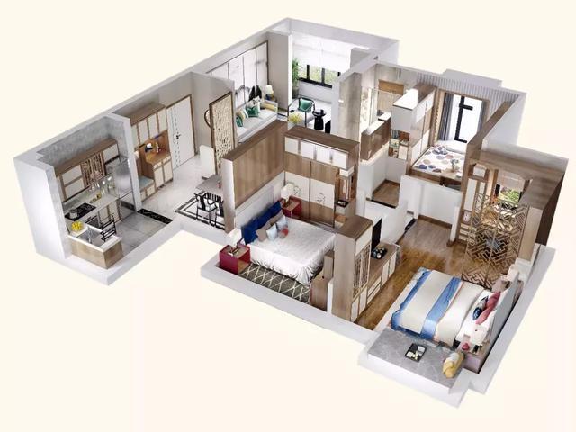 110平米温润雅致新中式风格 营造舒适的居家体验