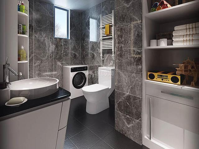 简约90平三居卫生间装修设计效果图