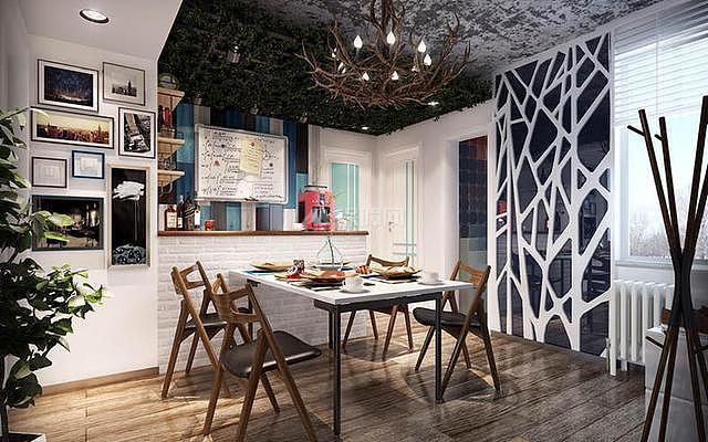 简约90平三居餐厅装修设计效果图