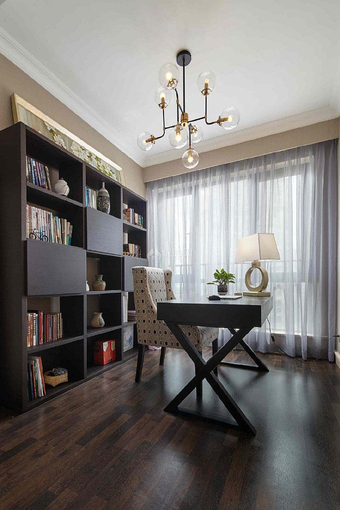 150平米美式书房设计效果图