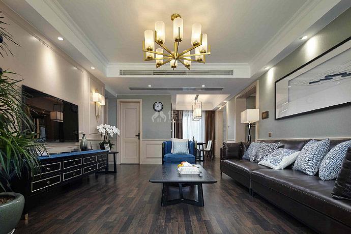 150平米美式客厅设计效果图