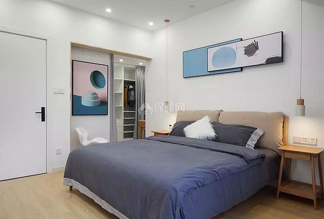 现代复式楼卧室装修效果图