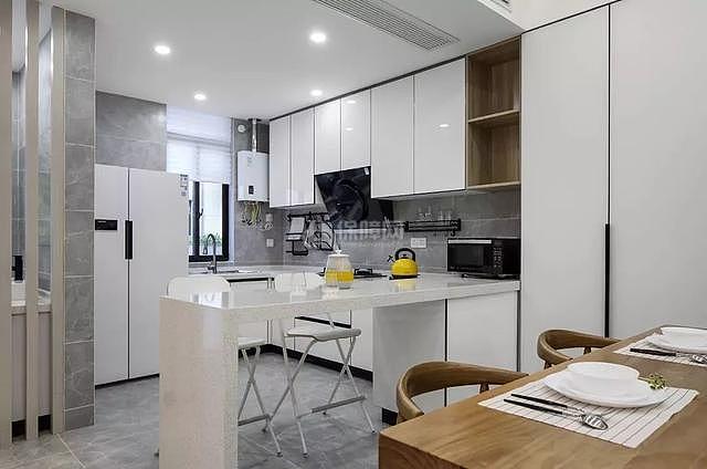 现代复式楼小吧台设计效果图