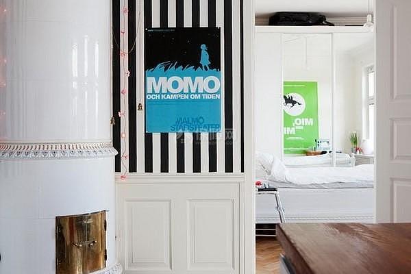 40平米小户型卧室门设计效果图