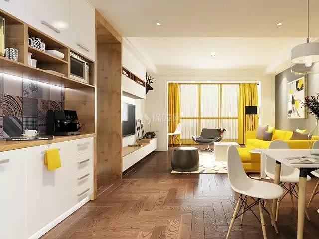 70平方2室一厅开放式厨房装修效果图