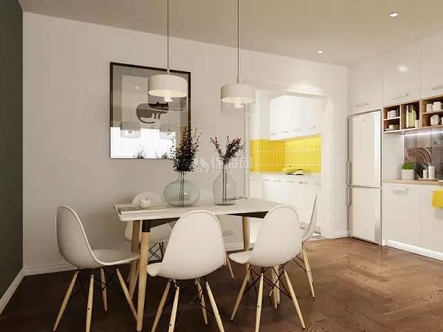 70平方2室一厅餐厅布置效果图
