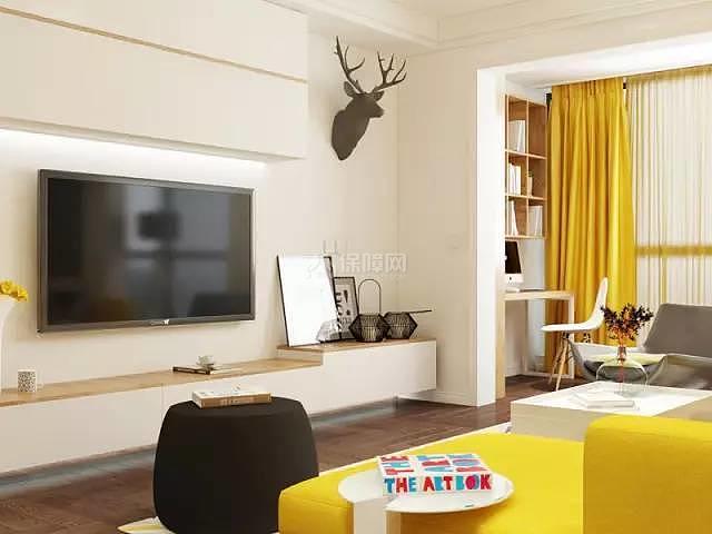 70平方2室一厅客厅装修效果图