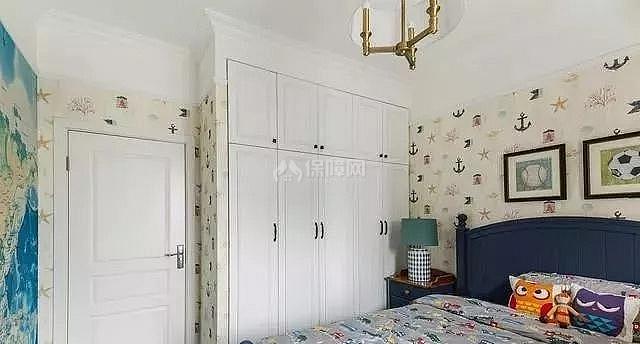 简美风格儿童房衣柜设计效果图