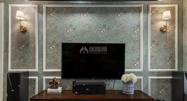 简美风格电视墙装修效果图