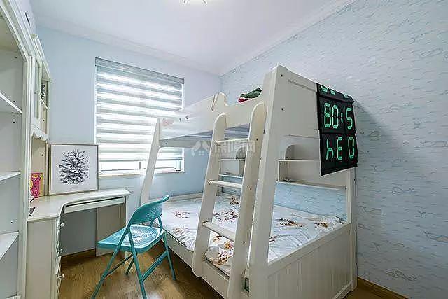 56㎡两居儿童房上下床设计效果图