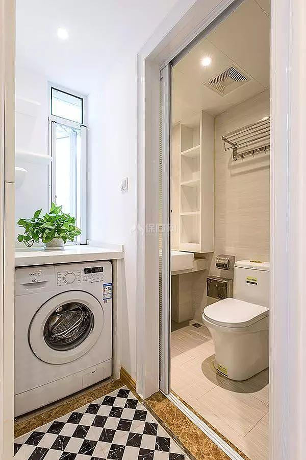 56㎡两居卫生间干湿分离设计效果图