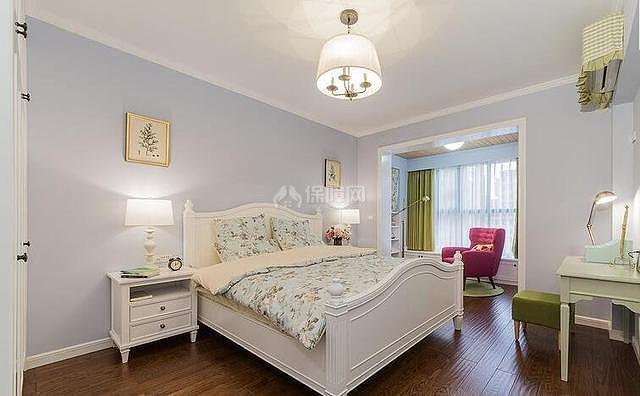 140平温馨北欧卧室装修效果图