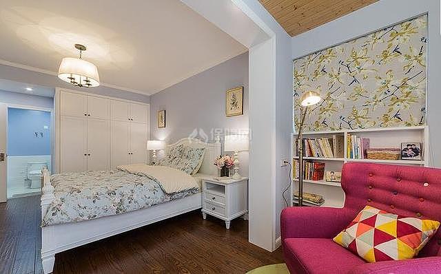 140平温馨北欧卧室休闲区布置效果图