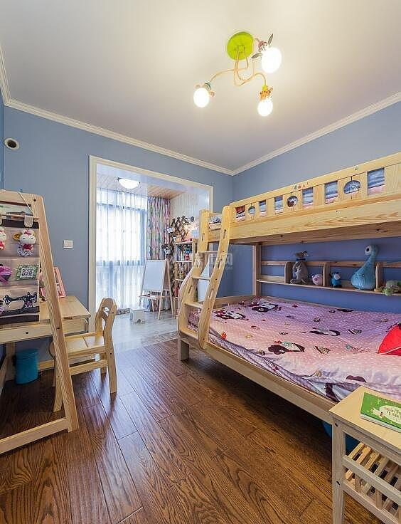 140平温馨北欧儿童房装修效果图