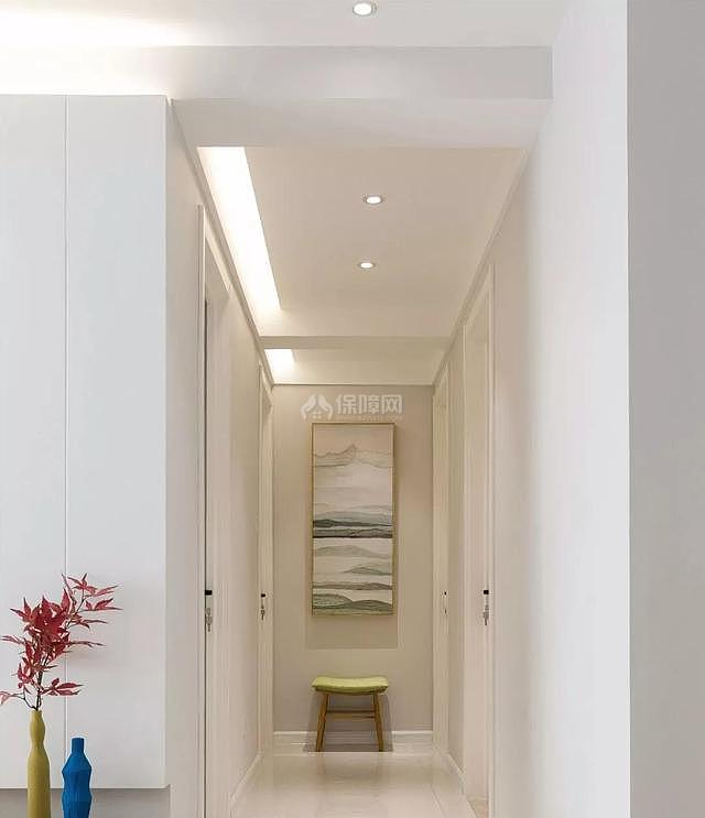 100平现代简约走廊装饰效果图