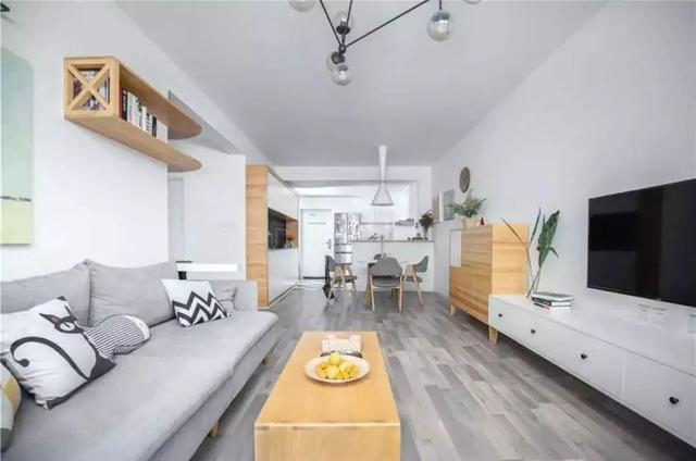 90平米兩室一廳裝修設計,獨立書房,還有超大陽臺