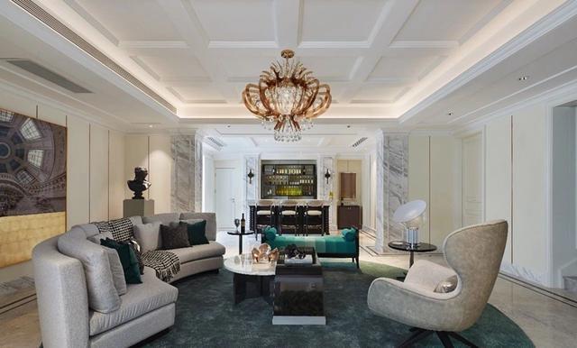 谁说欧式风格很土?这个420平欧式别墅设计,又豪华又优雅