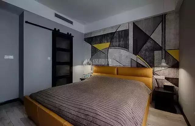 121平工业风卧室装修效果图